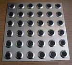 Антискользящая накладка квадрат, нержавеющая сталь+карборунд RU_B6010 300x300x6.5мм