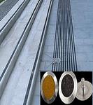 Антискользящая накладка точечная из нержавеющей стали с карборундом RU_D1333A